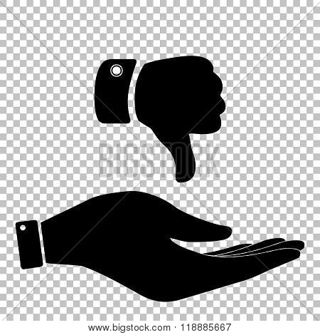 Hand sign. Flat style icon