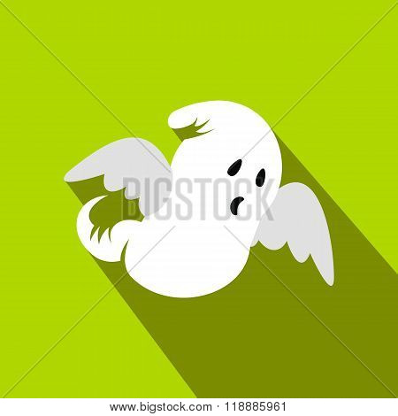 Ghost flat icon with shadow