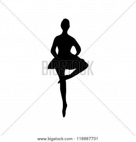 Ballerina silhouette black