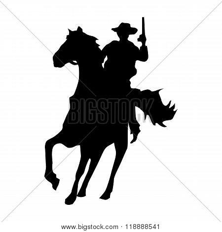 Cowboy silhouette black
