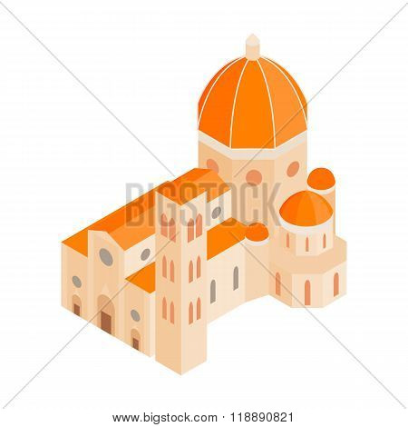 Roman Cathedral icon in isometric 3d style
