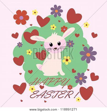 Easter Card Design, Vector Illustration