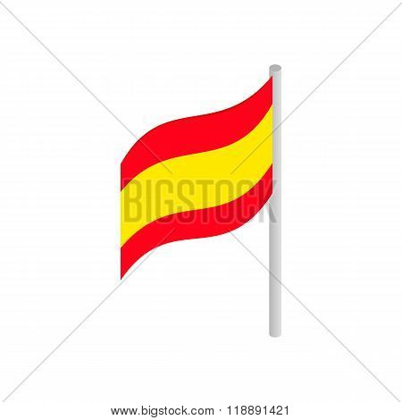 Flag of Spain icon, isometric 3d style