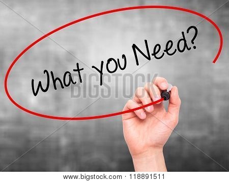 Man Hand Writing  We Need You? With Black Marker On Visual Screen