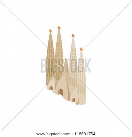 Roman Catholic church in Barcelona icon
