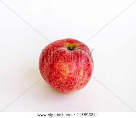 Ripe Summer Red Apple On A White Background