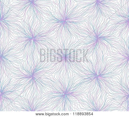 Seamless hexagon lines pattern blue purple