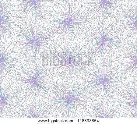Seamless hexagon lines pattern blue purple