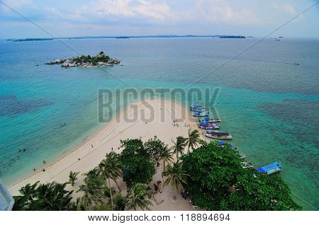 Lengkuas Island' Beach from The Top
