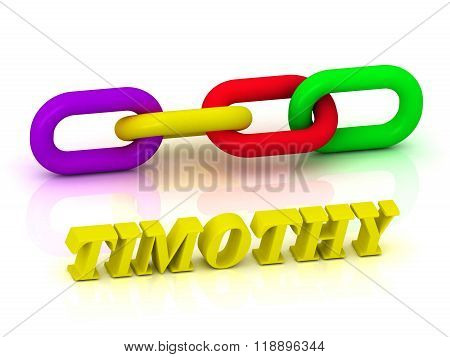 Timothy- Name And Family Of Bright Yellow Letters