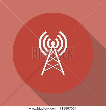 Antenna Icon. Flat Design Style.