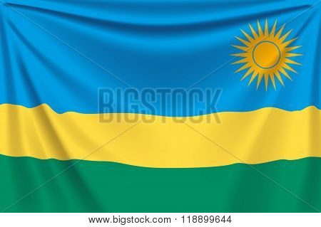 back flag rwanda