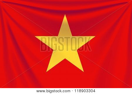 back flag Vietnam