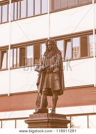 Leibniz Denkmal Leipzig Vintage