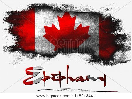 Flag Of Canada For Epiphany Holiday