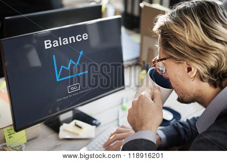 Balance Growth Business Finance Strategy Concept