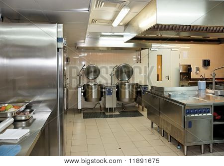 Typical Kitchen Of A Restaurant