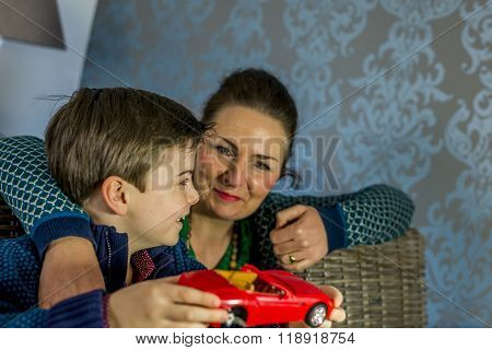 Boy And Mother