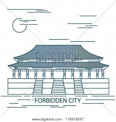 Forbidden City. Gate of Heavenly Peace. Tiananmen Square. Beijing.