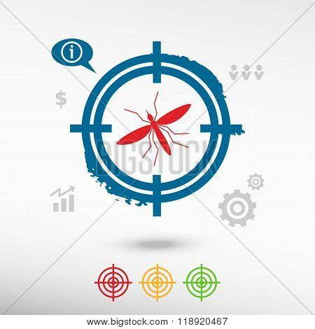 Mosquito Icon On Target Icons Background