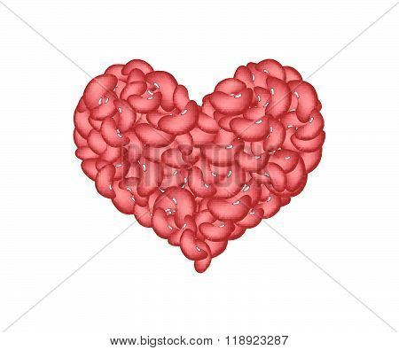 Kidney Beans Forming In A Heart Shape