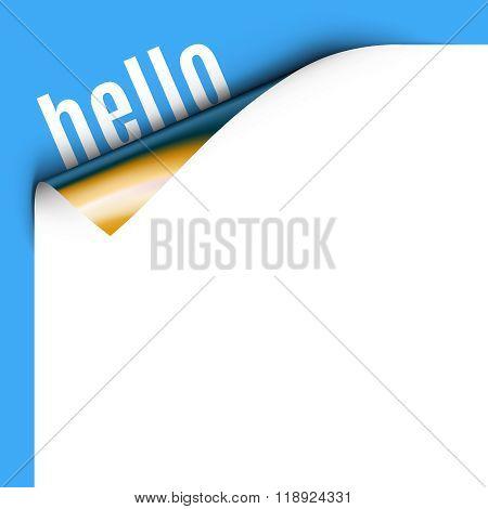Curled White Paper Corner