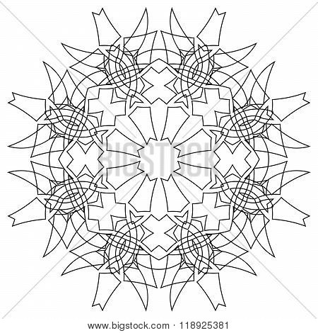 Black Symmetric Mandala