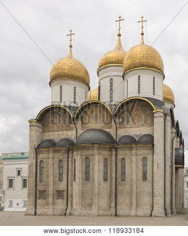 MOSCOW; RUSSIA- JULY 13- Assumption Cathedral of the Kremlin on July 13; 2015 in Moscow