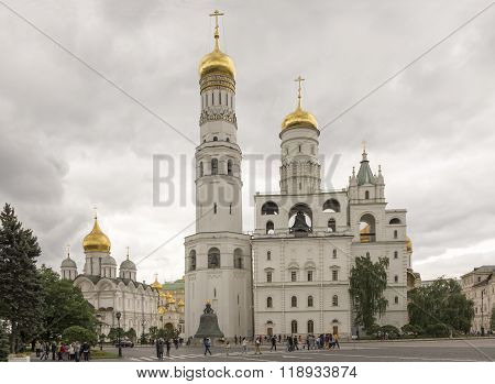 MOSCOW; RUSSIA- JULY 13- Ivan the Great Bell of the Kremlin on July 13; 2015 in Moscow