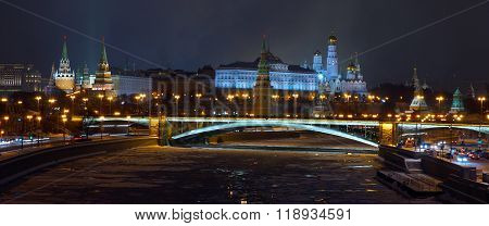 View at Moscow Kremlin from the Patriarchal bridge