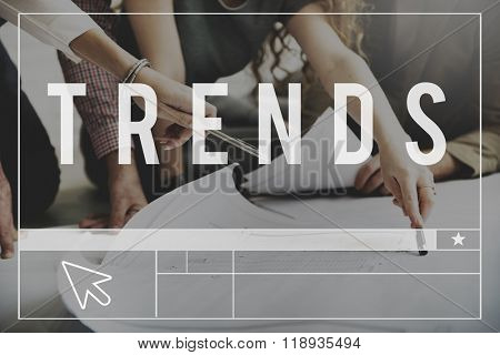 Trends Style Trending Modern Fashion Forecast Concept