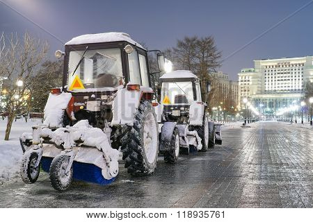 Snow machines are getting ready