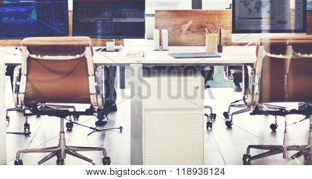 Office Workstation Computer Technology Company Concept