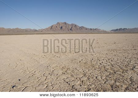 Dry lake bed in Nevada desert