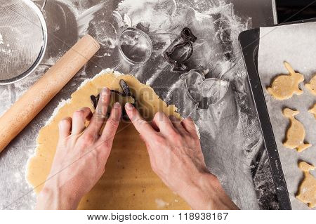 The process of baking cookies at home