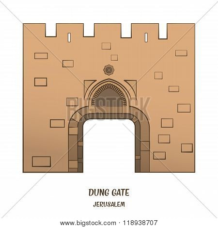 Dung Gate in Jerusalem