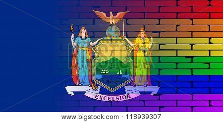 Rainbow Wall New York State