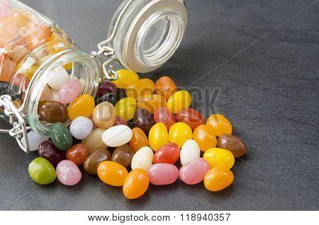 Jellybean Sweets In A Mason Jar