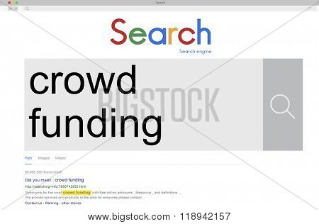 Crowd Funding Investment Funding Financial Concept