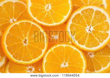 Colored background with orange citrus