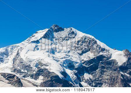 View Of The Ppiz Bernina Form Diavolezza
