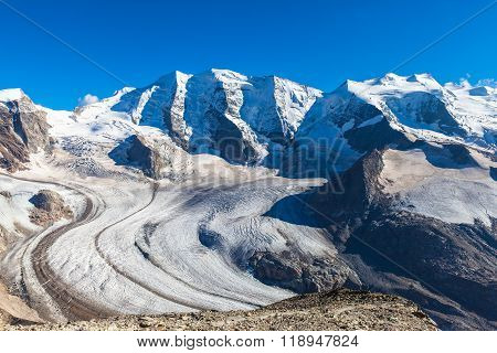 Bernina Massive And Glacier