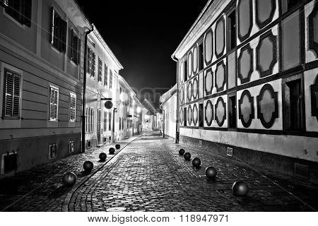 Town Of Varazdin Steet Evening View