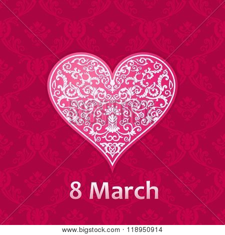 Woman's day Vector cards templates. Women's day cards labels or posters. Valentine's Day gift cards. Woman day vector illustration. Love Woman's day red backgrounds