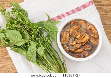 Thai Food Of Delicious Neem Served With Sweet Sauce