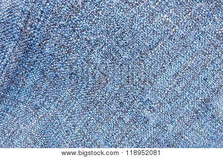 Detail Of Blue Blanket Textile Texture Background