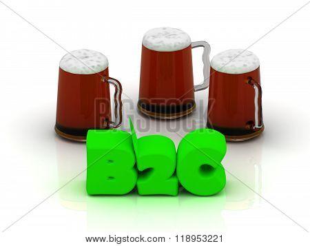 B2C Bright Volume Word 3 Cup Beer On