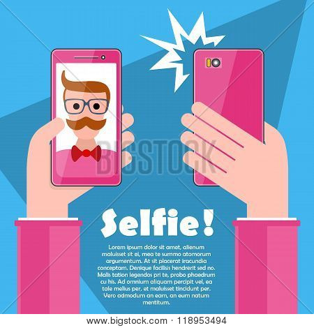 Selfie Poster With Hipster