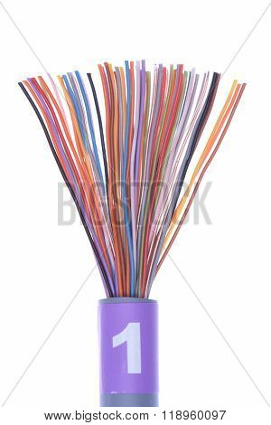 Stripped network cable