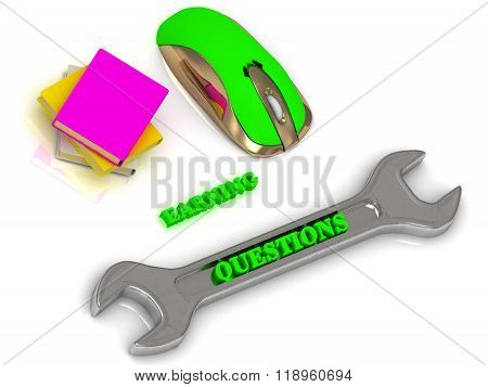 Questions  Bright Volume Letter On Silver Instrument, Textbooks